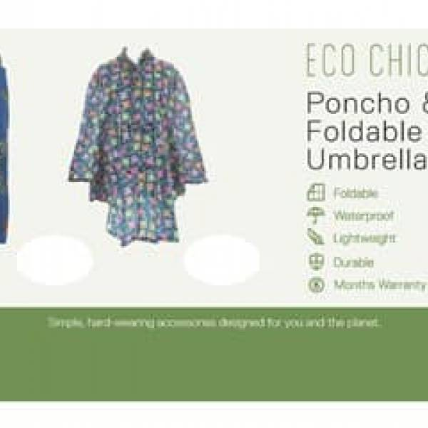 1021 Poncho & Mini Umbrella Header Board