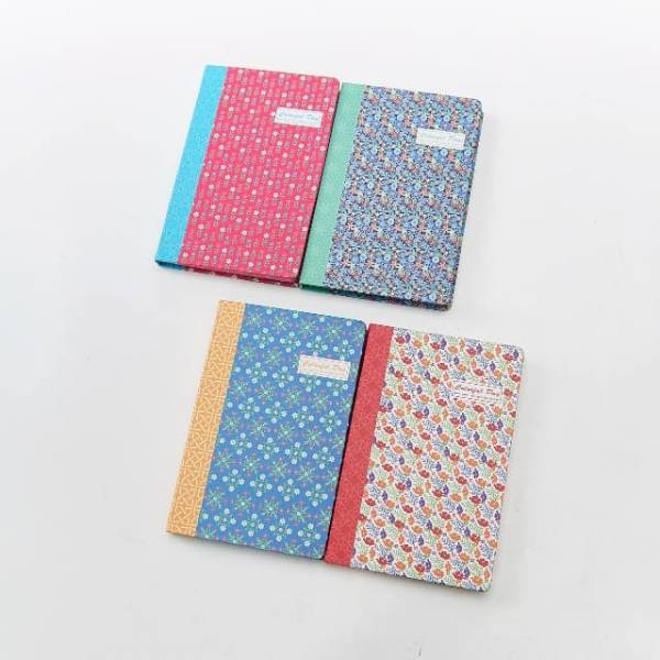 34005 Small Flowers A5 Ruled Notebook Pack Of 4