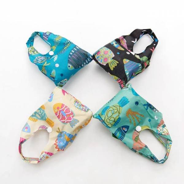 35160 Tropical Fish Foldable Shopper Pack Of 4