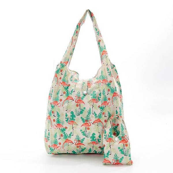 35189 A20 Beige Flamingo Foldable Shopper Pack Of 2