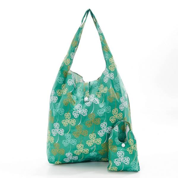 35190 Green Shamrock Foldable Shopper Pack Of 2