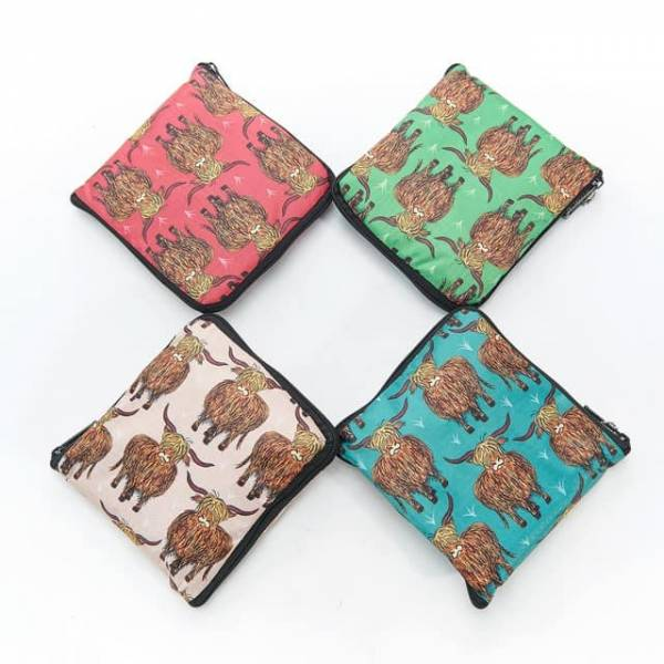 35242 Highland Cow Foldable Weekend Bag Pack Of 4