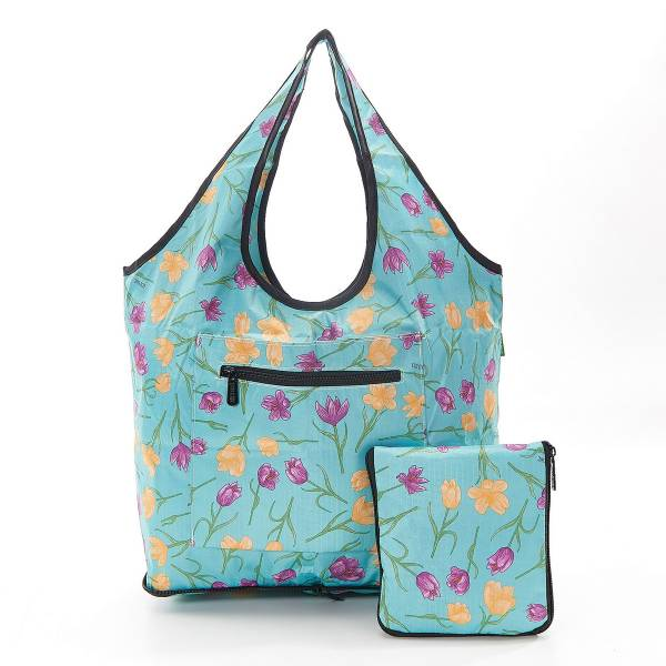 35268 Blue Crocus Foldable Weekend Bag Pack Of 2