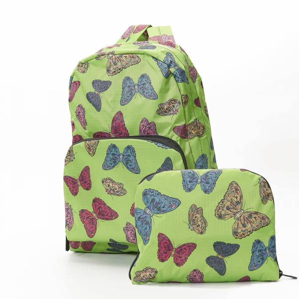 35334 Green Butterflies Foldable Backpack