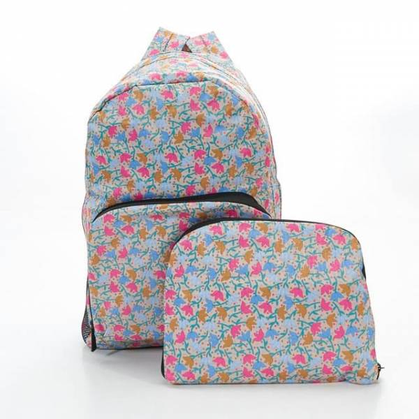 35335 B04  Beige Ditsy Doodle Foldable Backpack