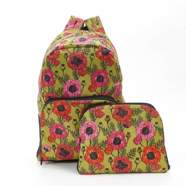 35347 Yellow Poppies Foldable Backpack