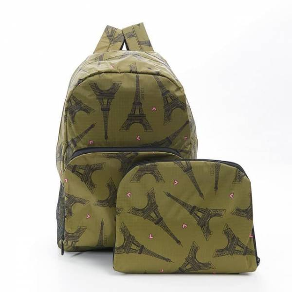 35350 Green Eiffel Tower Foldable Backpack