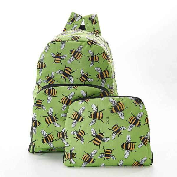 35353 B02 Green Bee Foldable Backpack