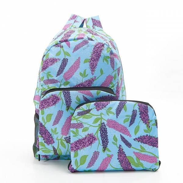 35356 Blue Buddleia Foldable Backpack