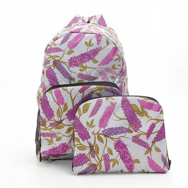 35356 Grey Buddleia Foldable Backpack