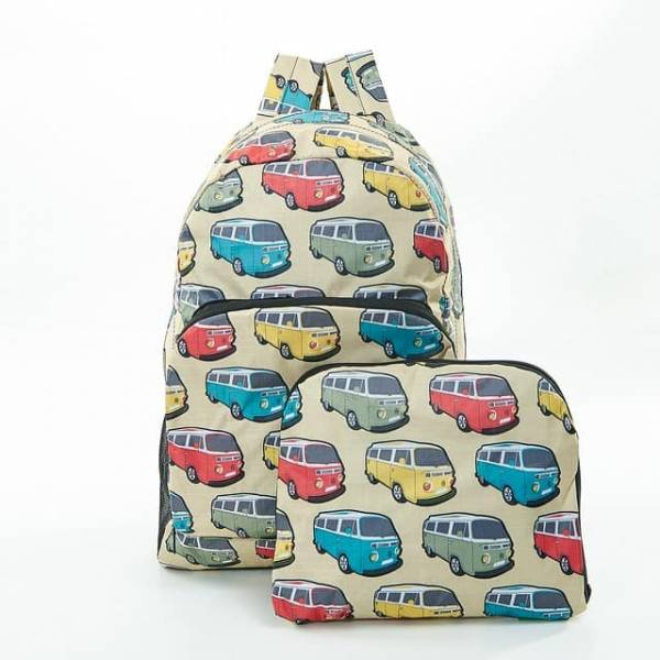 35359 Beige Camper Vans Foldable Backpack