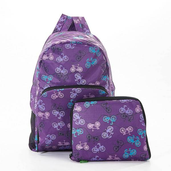35367 B30  Purple Bike Foldable Backpack