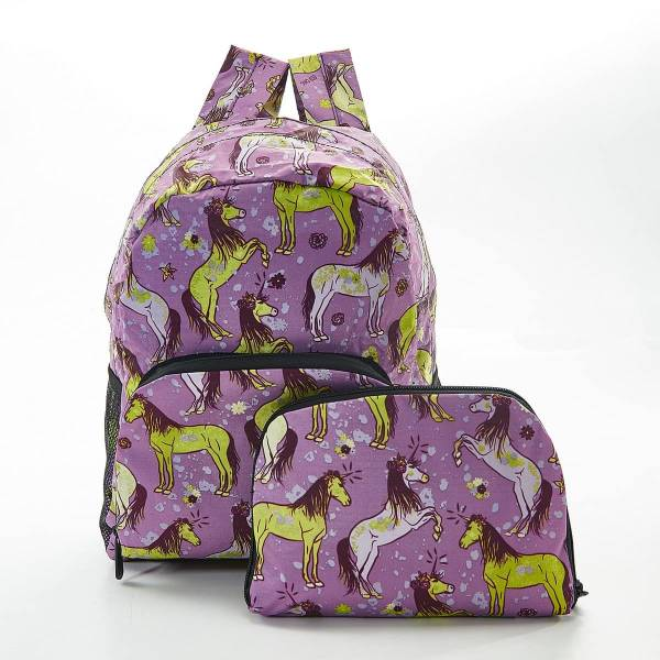 35369 Purple Unicorn Foldable Backpack
