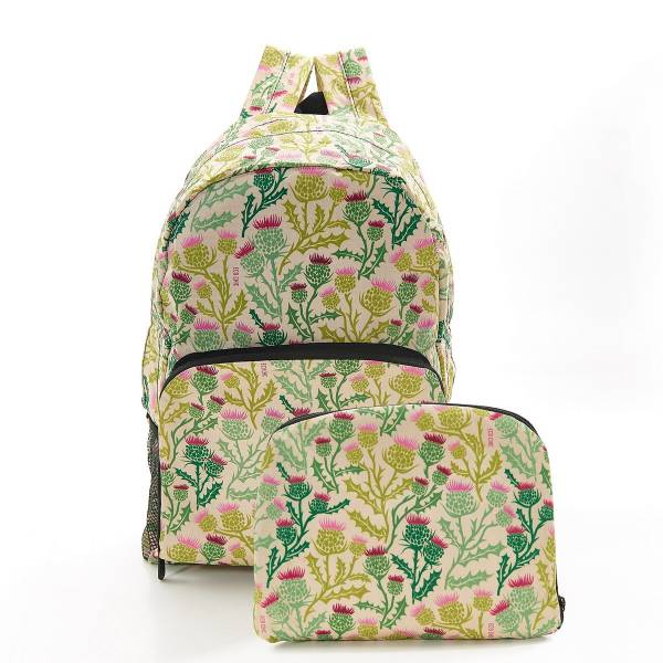 35372 Beige Thistle Foldable Backpack Pack Of 2
