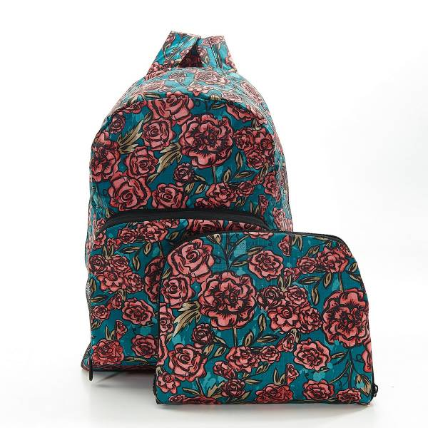 35377 Green Rose Foldable Backpack Pack Of 2