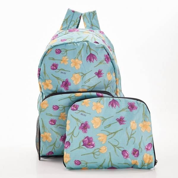 35390 Blue Crocus Foldable Backpack Pack of 2