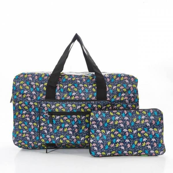 35438 D04  Black Ditsy Doodle Foldable Holdall