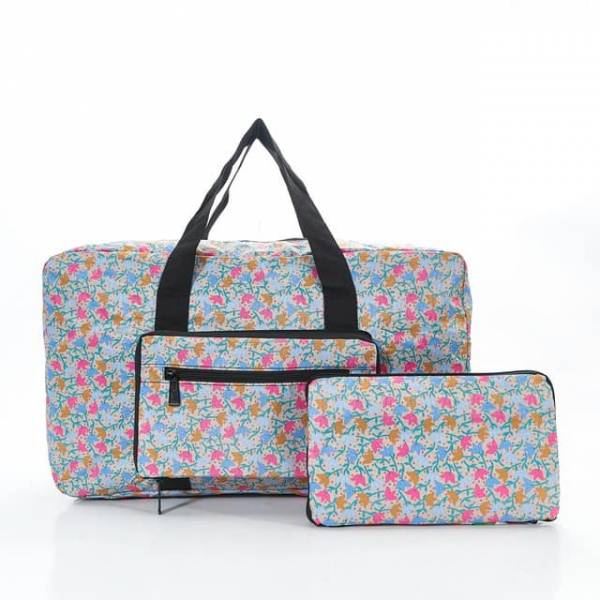 35438 D04  Grey Ditsy Doodle Foldable Holdall