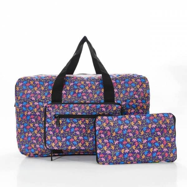 35438 D04  Purple Ditsy Doodle Foldable Holdall