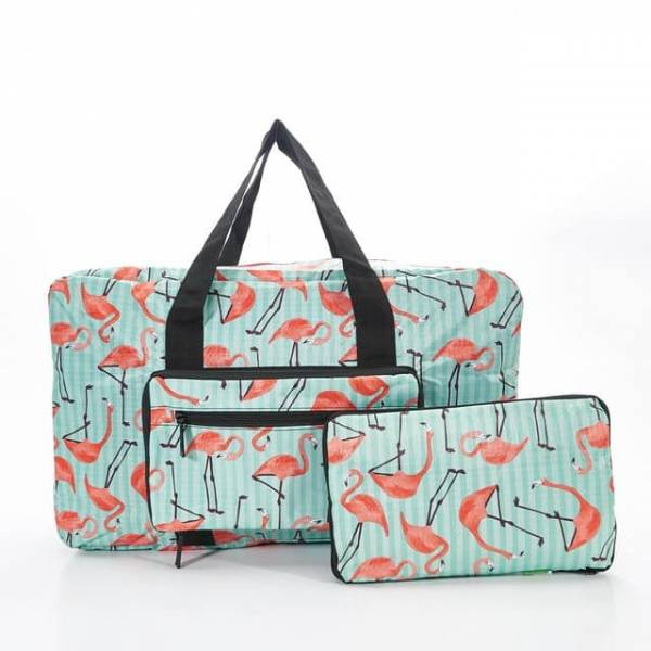 35440 Green Flamingo Foldable Holdall