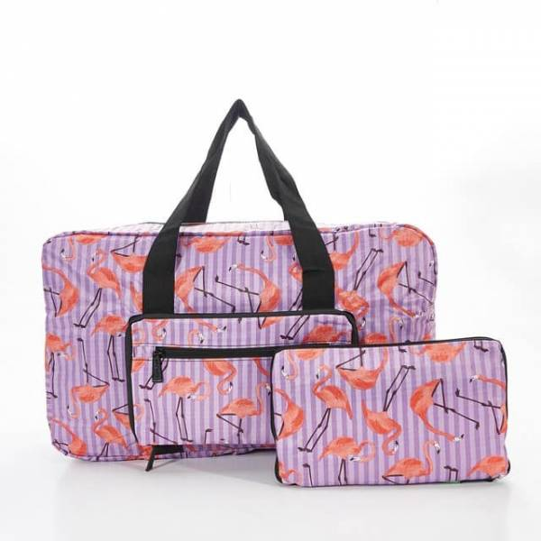 35440 Purple Flamingo Foldable Holdall