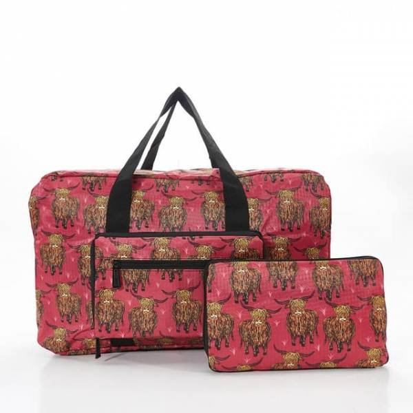 35443 Red Highland Cow Foldable Holdall