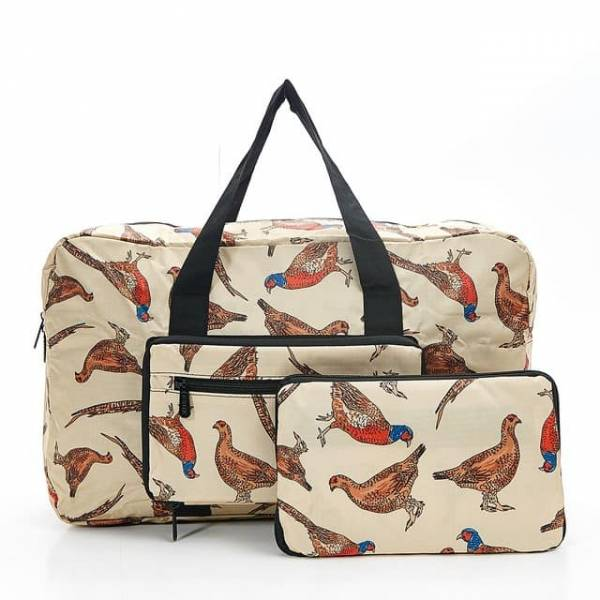 35451 Apricot Pheasant And Grouses Foldable Holdall