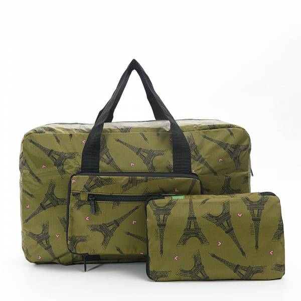 35452 Green Eiffel Tower Foldable Holdall