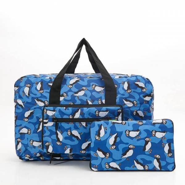 35453 D23  Royal Blue New Puffin Foldable Holdall