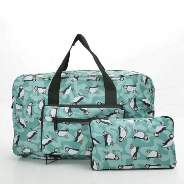 35453 D23  Teal New Puffin Foldable Holdall