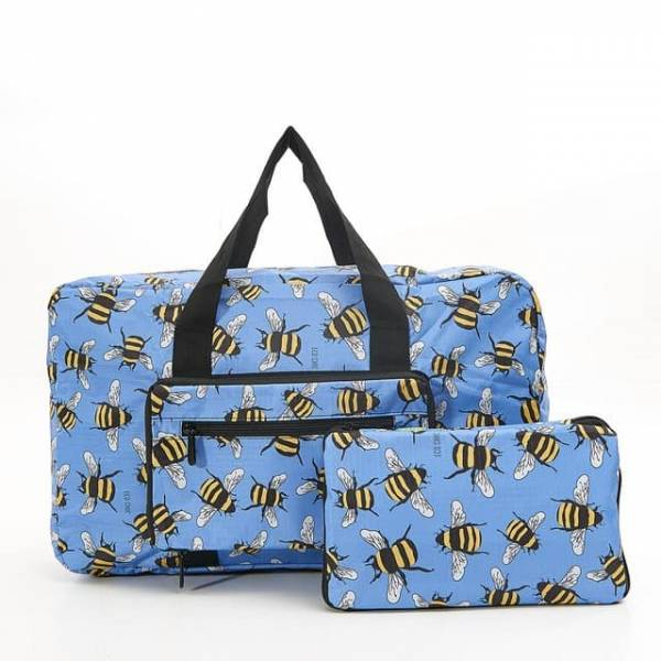 35455 Blue Bee Foldable Holdall