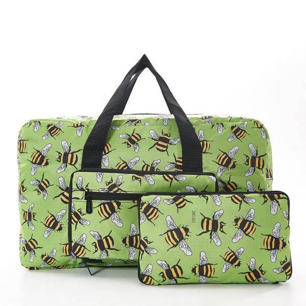 35455 D02  Green Bee Foldable Holdall