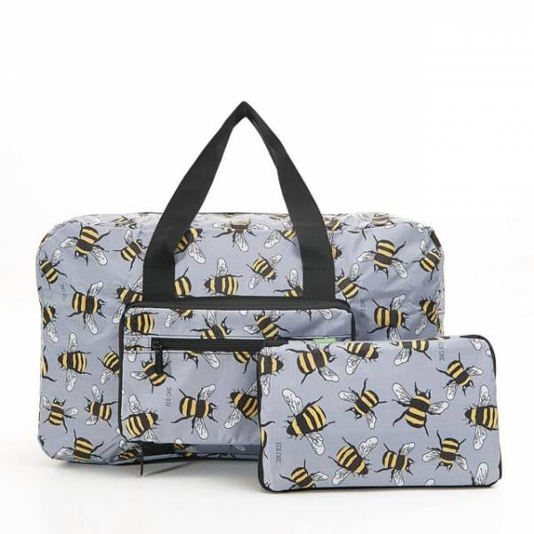 35455 D02  Grey Bee Foldable Holdall