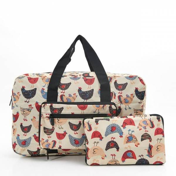 35457 Beige Chicken Foldable Holdall