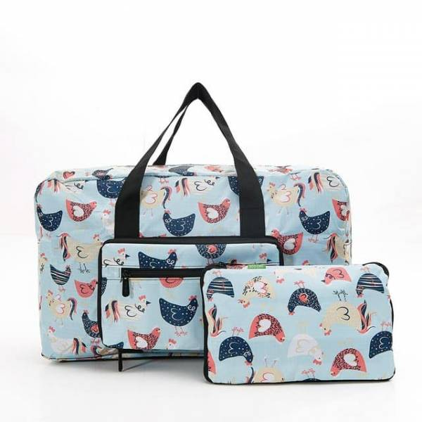 35457 Blue Chicken Foldable Holdall