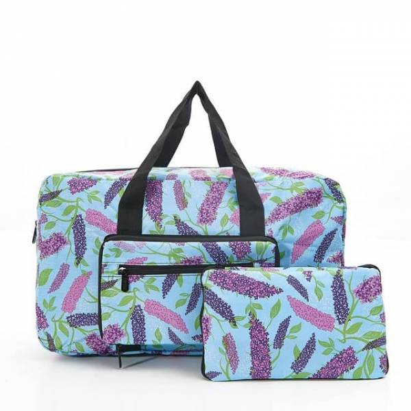 35458 Blue Buddleia Foldable Holdall