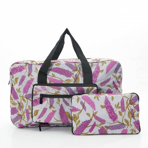 35458 Grey Buddleia Foldable Holdall