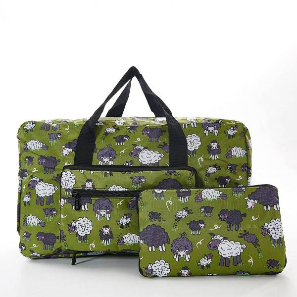 35464 Green Sheep Foldable Holdall