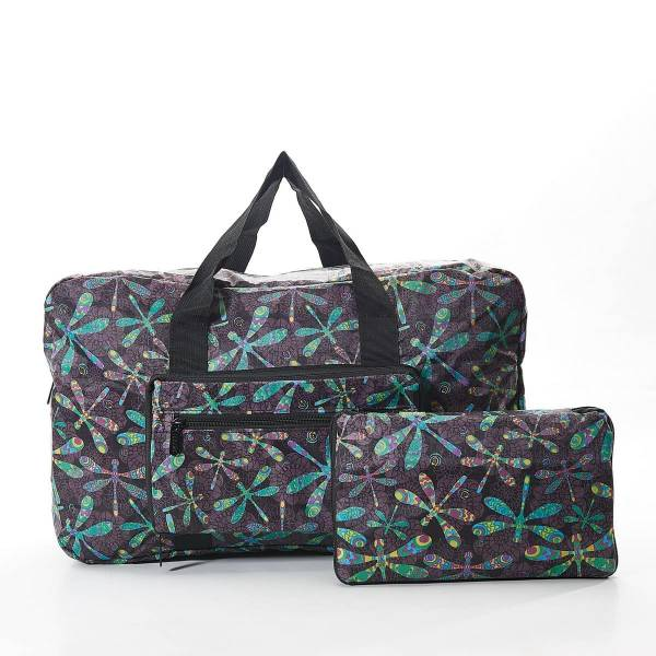 35467 Black Dragonfly Foldable Holdall