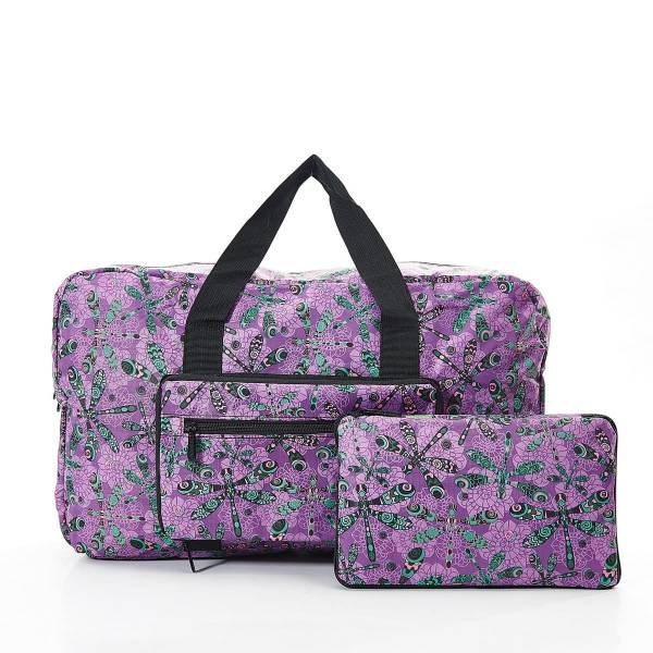 35467 Purple Dragonfly Foldable Holdall