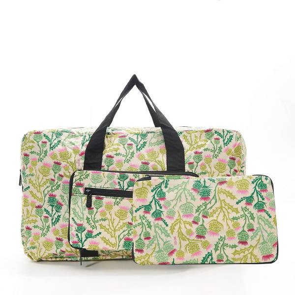 35472 D15  Beige Thistle Foldable Holdall Pack Of 2