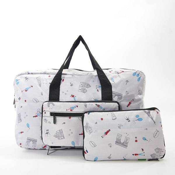 35479 White Paris Foldable Holdall Pack Of 2