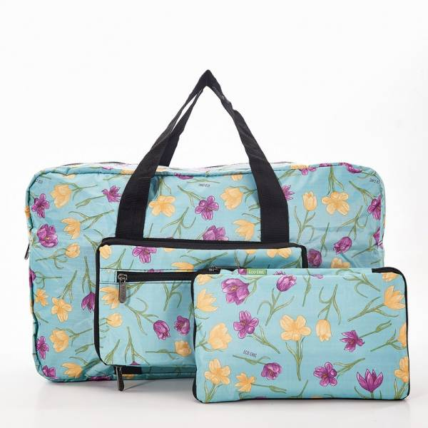 35487 Blue Crocus Foldable Holdall Pack of 2