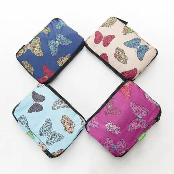 35533 Butterflies Foldable Drawstring Bag Pack Of 4