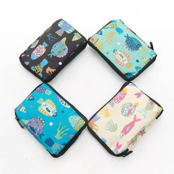 35551 Tropical Fish Foldable Drawstring Bag Pack Of 4
