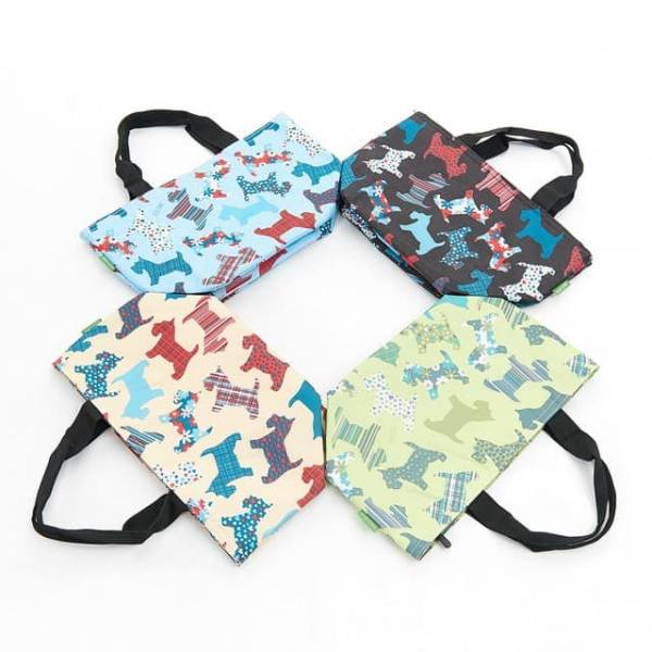 35642 C08  New Floral Scotty Dog Cool Bag Pack Of 4