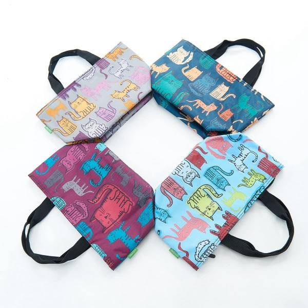 35653 Funky Cat Cool Bag Pack Of 4