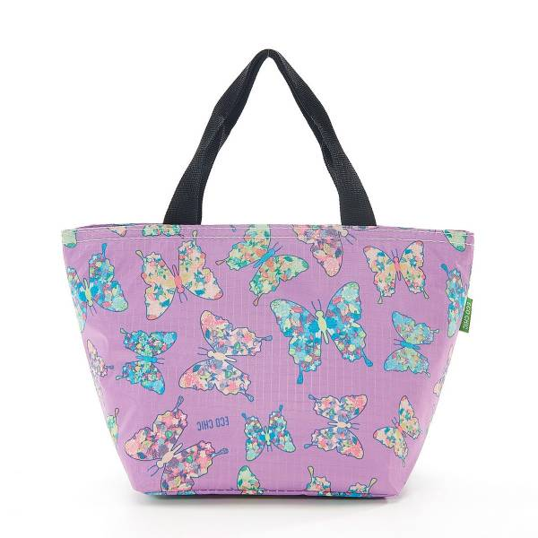 35659 Lilac Butterfly Cool Bag Pack Of 2