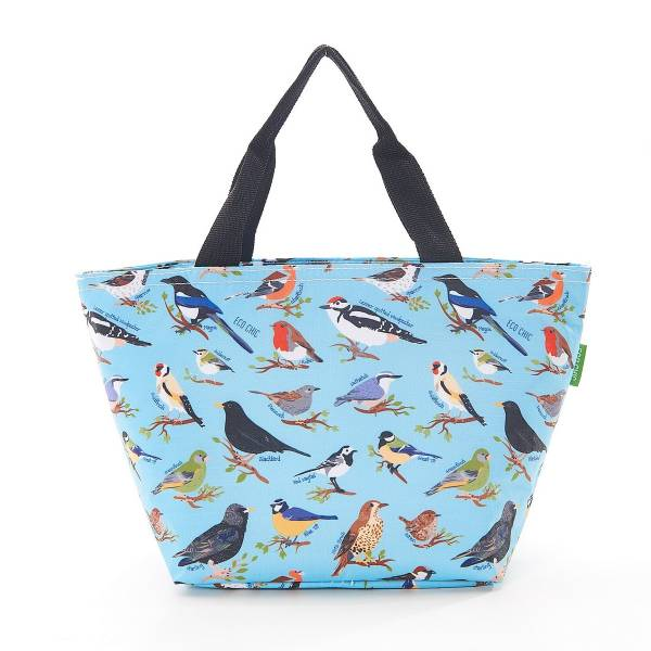 35662 C17  Blue Wild Birds Cool Bag Pack Of 2