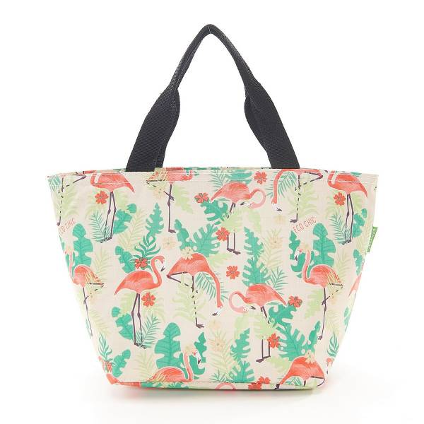 35669 Beige Flamingo Cool Bag Pack Of 2